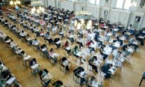 Pupils doing a GCSE exam